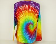 Dámské batikované tričko duhové