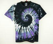 Pánské batikované tričko BLACK SPIRAL, M