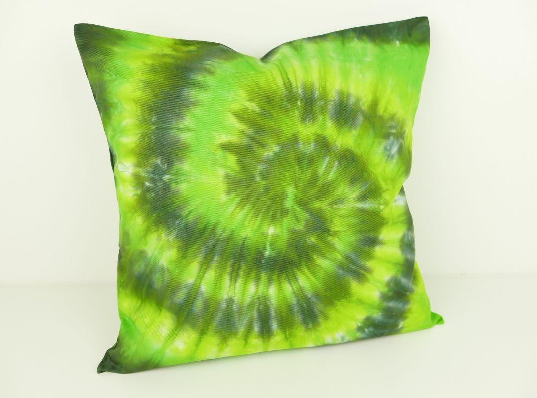 Povlak na polštářek 40x40 batika zelený