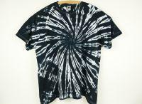 Batikované tričko BLACK SKELETON