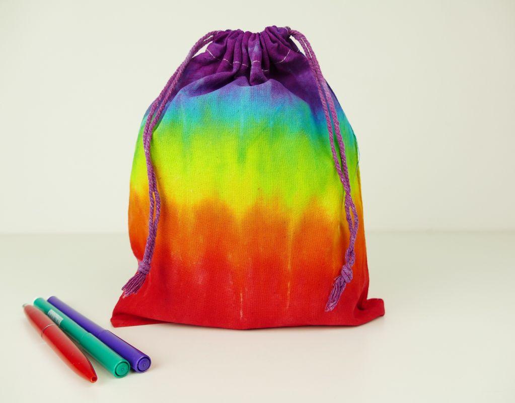 Pytlík sáček duhový látkový batika