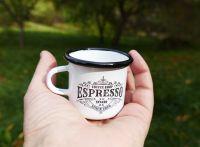 Smaltovaný hrneček mini Espresso
