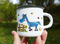 Hrneček plecháček malovaný Koně