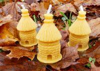 SVÍČKA VČELÍ ÚL natural včelí vosk 4,5x10cm