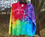 Batikované tričko RAINBOW MIX, XL