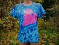 Dámské batikované tričko Srdce v moři