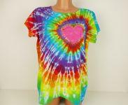Dámské duhové tričko se srdcem LASKONKA, XL