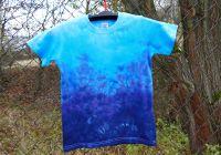 Dětské modré tričko batika