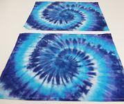 PROSTÍRÁNÍ bavlněné batika MODRÁ SPIRÁLA 2ks
