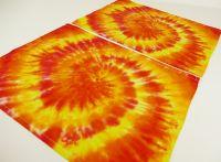 PROSTÍRÁNÍ bavlněné batika SLUNEČNÍ 2ks