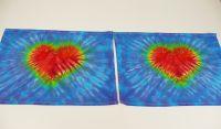 Modré prostírání batika se srdcem