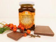Rakytníková pomazánka s 64% tmavou čokoládou, 220g