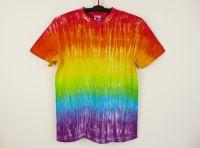 Batikované tričko DUHOVÉ M-L