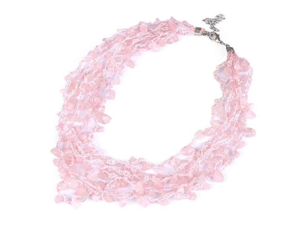 Jemný náhrdelník růženín