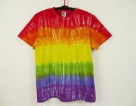 Batikované tričko DUHOVÉ, XL