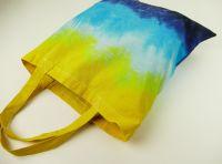 Látková nákupní taška modrá batika