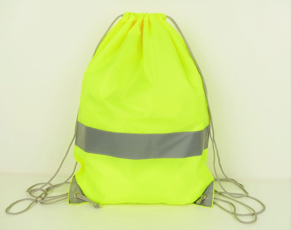 Fluorescenční batoh vak na záda žlutý