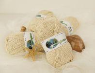 Přírodní hedvábí na pletení Laguna