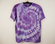 Batikované tričko fialové AMETYST, XL