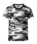 Dětské maskáčové tričko černobílé