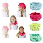 DĚTSKÝ šátek/čepice 2v1 - různé barvy