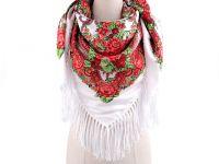 Velký šátek s třásněmi Folklór