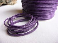 Bavlněná šňůrka na krk fialová
