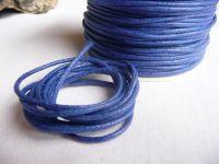 Šňůrka voskovaná bavlna modrá