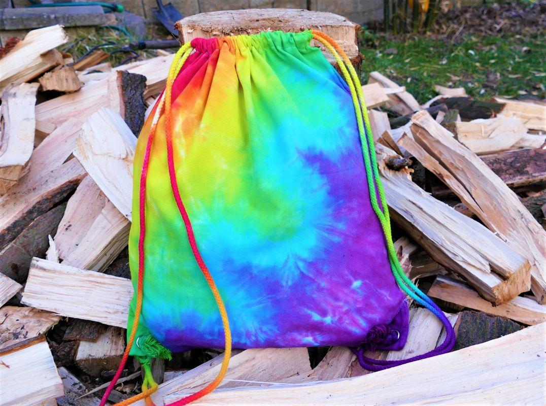 Duhové vlny batoh vak na záda
