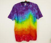 Duhové batikované tričko 3XL