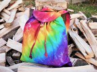 BATŮŽEK organická bavlna batika DUHA SPIRIT