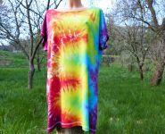 Dámské dlouhé tričko (šaty) DUHOVÉ VLNY, XL