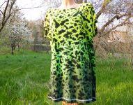 Dámské dlouhé tričko (šaty) ZELENÝ TYGR, XL