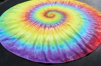 KULATÝ UBRUS bavlněný batika DUHOVÁ SPIRÁLA, 140 cm