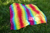 PAREO šátek velký batika DUHOVÝ, 150x140cm