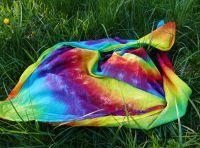 Velký duhový šátek batika