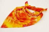 ŠÁTEČEK malý batikovaný ŽLUTÝ OHNIVÝ