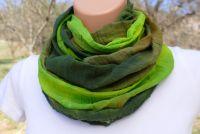 ŠÁTEK TUNEL na krk batika ZELENÝ