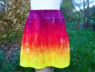 Sportovní ohnivá sukně s kapsami