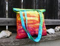Duhová batikovaná taška Elixír