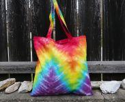 Duhová taška látková nákupní