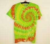 Batikované tričko zelené