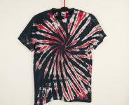 Batikované tričko RED SKELETON, M