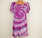 Batikované šaty malinové
