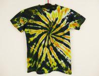 Dětské batikované tričko Ohnivá spirála, S