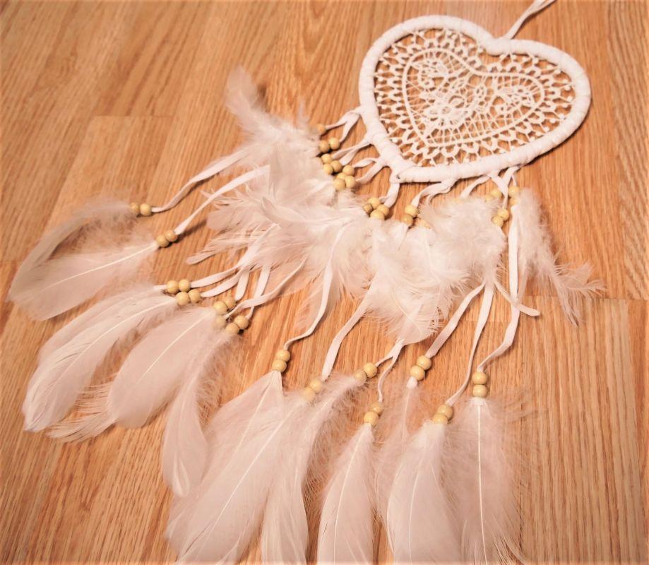 Velký bílý lapač Andělské srdce