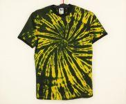 Batikované tričko žluto černé