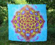 PAREO Šátek velký batika BLANKYTNÝ DIAMANT, 150x140cm