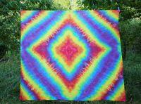 PAREO Šátek velký batika DUHOVÝ DIADÉM, 150x140cm