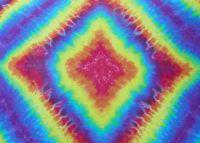 Velký duhový batikovaný šátek pareo